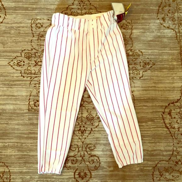 Wilson red striped baseball pants 7ffca4435536